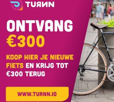 Koop een nieuwe ebike en ontvang tot €300,= terug.
