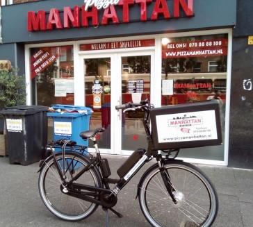 Levering delivery ebike voor Pizzeria Manhattan Den Haag