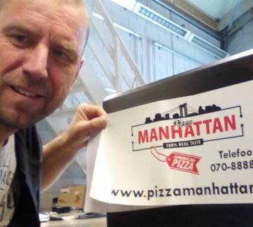Vandaag bezig met Delivery Ebike van Pizzeria Manhattan
