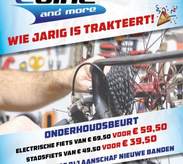 Wie jarig is trakteert , Ebike and More 4 jaar