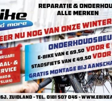 Winteractie , fietsonderhoud alle merken.